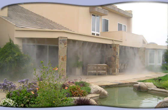 Patio Misting Systems : Home misting systems residential outdoor mist cooling