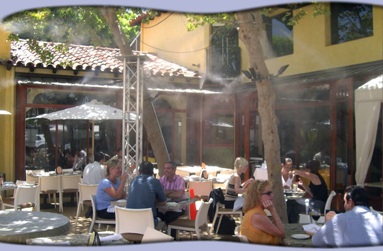 Restaurant Misters for Patio Cooling